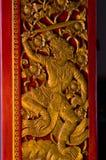 Escultura tailandesa del señor del guardia de Tradional Foto de archivo