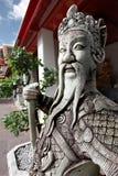 Escultura tailandesa do guerreiro fotografia de stock royalty free