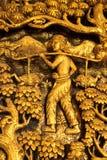Escultura tailandesa exquisita del estilo Imagen de archivo libre de regalías