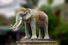 Escultura tailandesa Maisen Lin Qing del elefante Imagenes de archivo