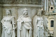 Esculturas antigas do altar da pátria Imagens de Stock