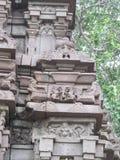 Esculturas antiguas de la pared Foto de archivo