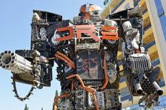 Esculturas clasificadas gigante de la chatarra Foto de archivo libre de regalías