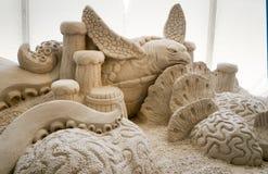 Esculturas da areia no cais 60 Sugar Sand Festival Fotografia de Stock Royalty Free