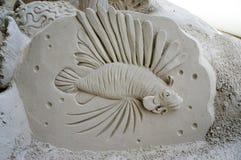 Esculturas da areia no cais 60 Sugar Sand Festival Fotos de Stock Royalty Free