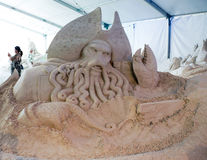 Esculturas da areia no cais 60 Sugar Sand Festival Imagens de Stock Royalty Free
