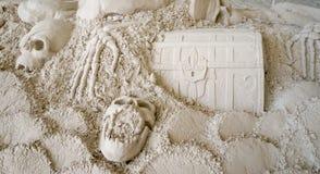 Esculturas da areia no cais 60 Sugar Sand Festival Fotos de Stock