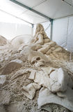 Esculturas da areia no cais 60 Sugar Sand Festival Foto de Stock Royalty Free