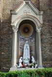 Esculturas da igreja da concepção imaculada da Virgem Maria abençoada Imagens de Stock