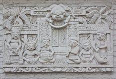 Esculturas da parede do Indonesian fotografia de stock royalty free