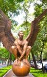 Esculturas de bronce del artista contemporáneo Jorge Marin en Ciudad de México Fotos de archivo libres de regalías