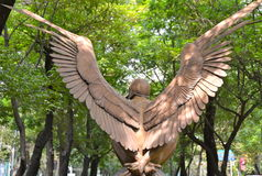 Esculturas de bronce del artista contemporáneo Jorge Marin en Ciudad de México Imágenes de archivo libres de regalías