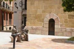 Esculturas de bronces de hombres en Antequera Fotografía de archivo
