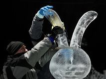 Esculturas de hielo en St Petersburg, Rusia Fotografía de archivo