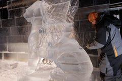 Esculturas de hielo en St Petersburg, Rusia Foto de archivo