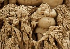 Esculturas de la arena en Albufeira Portugal imagen de archivo libre de regalías