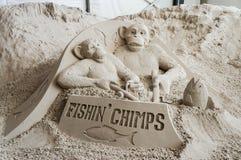 Esculturas de la arena en el embarcadero 60 Sugar Sand Festival foto de archivo