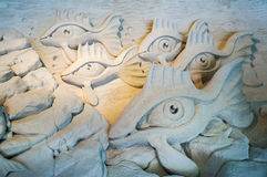 Esculturas de la arena en el embarcadero 60 Sugar Sand Festival fotografía de archivo libre de regalías