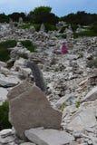 Esculturas de la balanza de la roca Imagen de archivo libre de regalías