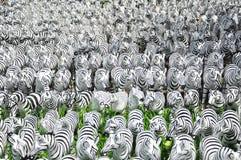 Esculturas de la cebra Fotos de archivo