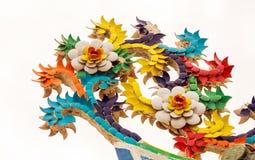 Esculturas de la flor en el nublado Fotos de archivo