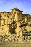 Esculturas de la piedra arenisca en Bolnuevo imagen de archivo libre de regalías
