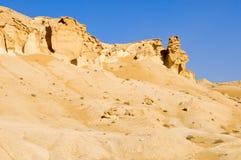 Esculturas de la roca en el desierto Foto de archivo libre de regalías