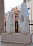 Esculturas de mármore Palau Museu março Foto de Stock