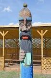 Esculturas de madeira dos cavaleiros Fotos de Stock