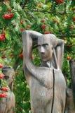 Esculturas de madeira em Muzeon Art Park & x28; Monumento caído Park& x29; em Moscou Fotografia de Stock Royalty Free