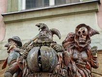 Esculturas de madera malvadas fotos de archivo libres de regalías