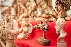 Esculturas de madera tradicionales Fotos de archivo libres de regalías