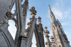 Esculturas de Milan Cathedral Fotografía de archivo libre de regalías