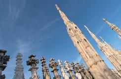Esculturas de Milan Cathedral Imagen de archivo