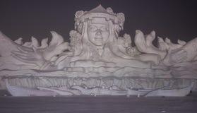 Esculturas de nieve en el hielo de Harbin y el festival de la nieve en Harbin China Fotos de archivo