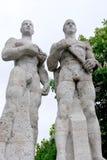 Esculturas de Olympia Stadium de Berlín Fotografía de archivo