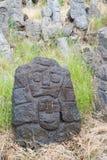 Esculturas de pedra da lava imagens de stock