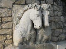 Esculturas de pedra dos cavalos Fotos de Stock