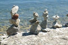 Esculturas de pedra indianas Fotos de Stock Royalty Free