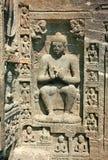 Esculturas de pedra nos templos budistas em Ajanta Imagens de Stock Royalty Free