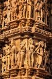 Esculturas de piedra famosas de Khajuraho imagen de archivo libre de regalías