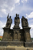 Esculturas de St Norbert Wenceslas y Sigismund fotografía de archivo libre de regalías