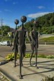 3 esculturas del metal Fotos de archivo