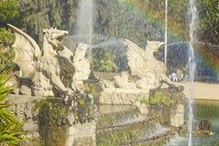 Esculturas del parque de Ciutadella Imagen de archivo libre de regalías