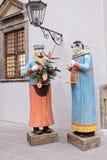 Esculturas del ` s del Año Nuevo en la calle Fotos de archivo