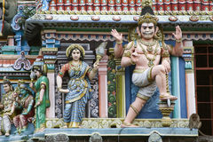 Esculturas del templo del hinduist en la India del sur Imagen de archivo libre de regalías