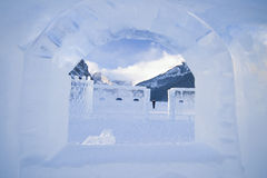 Esculturas do gelo em Lake Louise Foto de Stock
