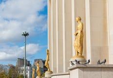 Esculturas do ouro fotografia de stock