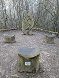 Esculturas do parque do fosso, Maidstone, Kent, Medway, Reino Unido Reino Unido Fotografia de Stock Royalty Free
