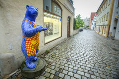 Esculturas do urso em Freising foto de stock